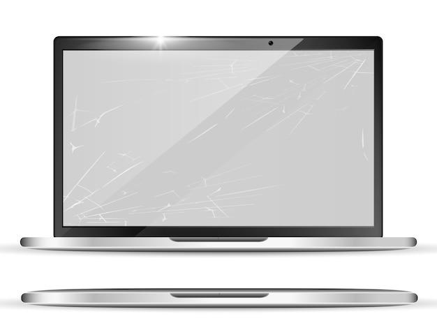 Realistischer gebrochener bildschirm 3d