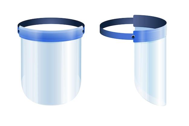 Realistischer gesichtsschutz aus kunststoff