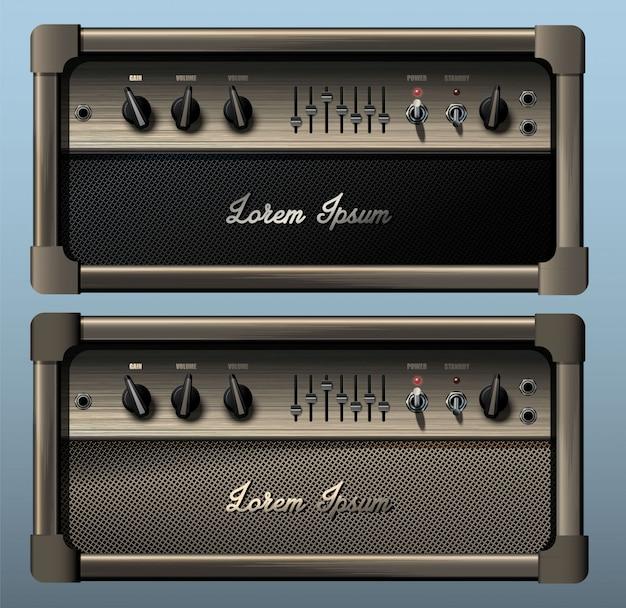 Realistischer gitarren-combo-verstärker.