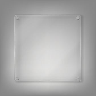 Realistischer glasrahmenhintergrund.