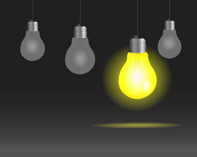 Realistischer glühlampelampenhintergrund