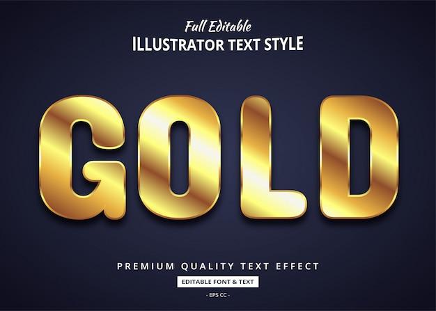 Realistischer gold chrome chrome texteffekt