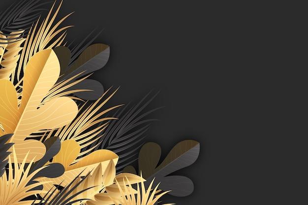 Realistischer goldener blätterhintergrund