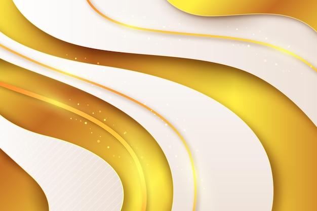 Realistischer goldener luxushintergrund