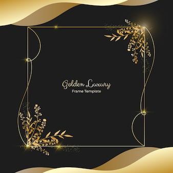 Realistischer goldener luxusrahmen