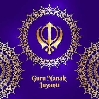 Realistischer guru nanak jayanti hintergrund