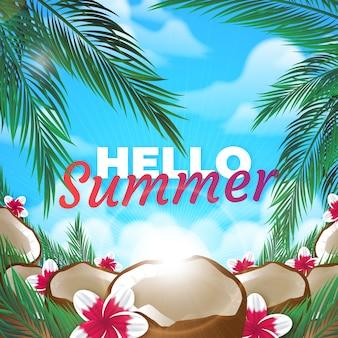 Realistischer hallo sommer