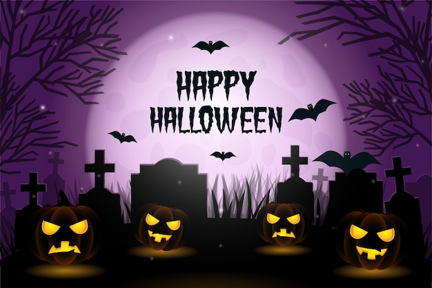 Realistischer halloween-hintergrund