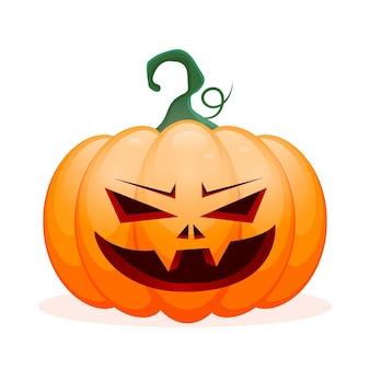 Realistischer halloween-kürbis