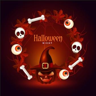Realistischer halloween-rahmen