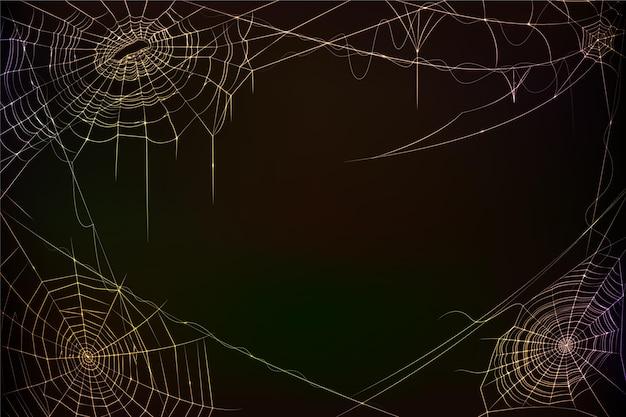 Realistischer halloween-spinnennetzhintergrund