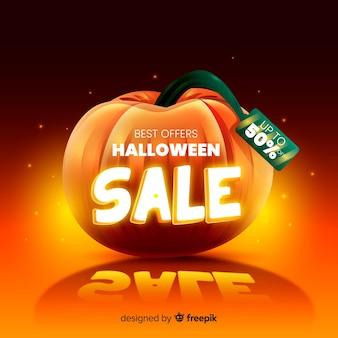 Realistischer halloween-verkauf