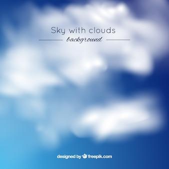 Realistischer himmel mit wolken