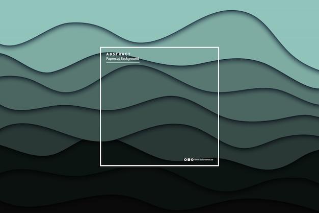 Realistischer hintergrund aus cyan-papierschnitt für dekoration und abdeckung. konzept der geometrischen zusammenfassung.