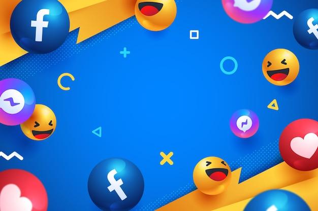 Realistischer hintergrund der social media-elemente
