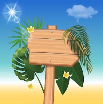 Realistischer hintergrund der sommerzeitferien. illustration