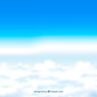 Realistischer hintergrund des bewölkten himmels