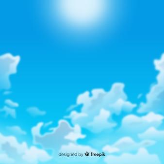 Realistischer hintergrund des blauen himmels