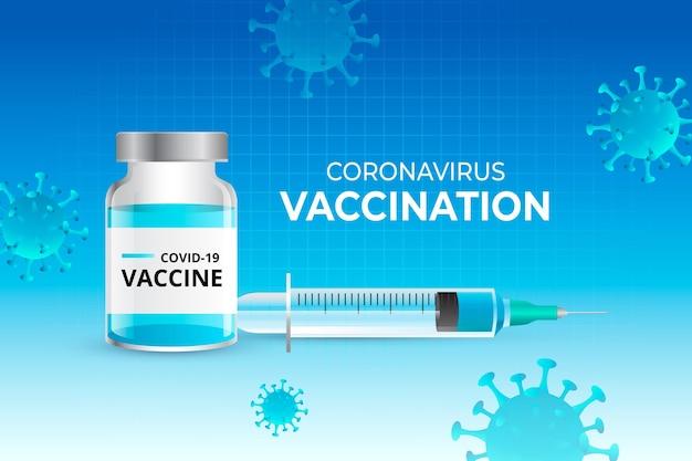 Realistischer hintergrund des coronavirus-impfstoffs
