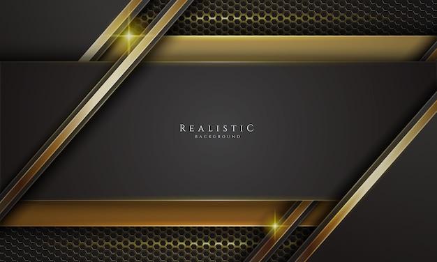 Realistischer hintergrund in schwarz und gold
