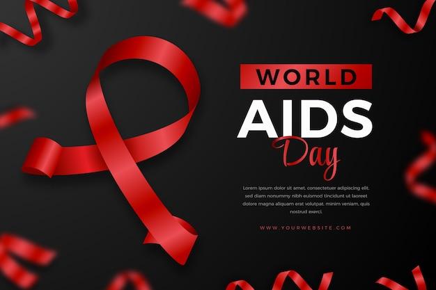 Realistischer hintergrund zum welt-aids-tag