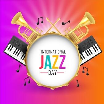 Realistischer internationaler jazz-tag