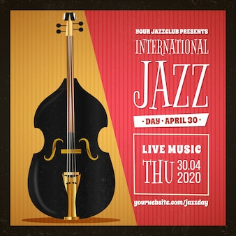 Realistischer internationaler jazz-tag