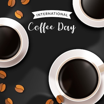 Realistischer internationaler kaffeetag