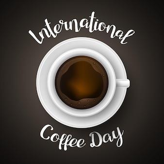 Realistischer internationaler kaffeetag