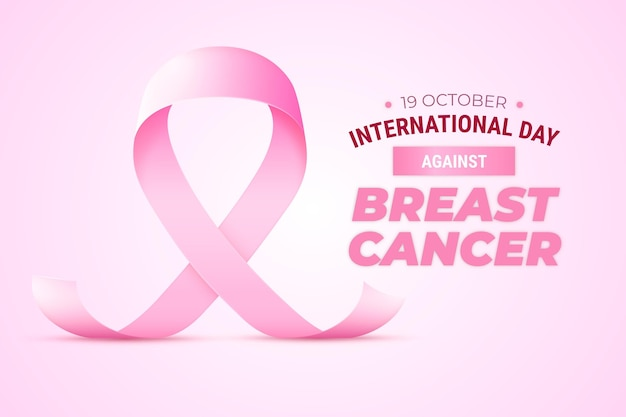 Realistischer internationaler tag vor dem hintergrund von brustkrebs