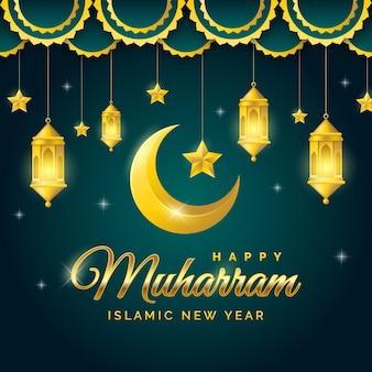 Realistischer islamischer neujahrshintergrund
