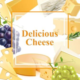 Realistischer käse-rahmen