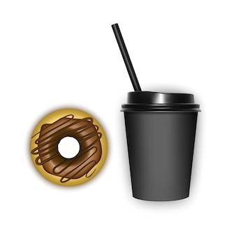 Realistischer kaffee und dessert