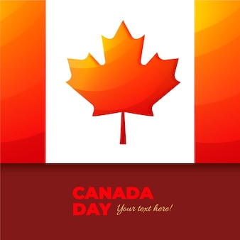 Realistischer kanada-tag mit flagge