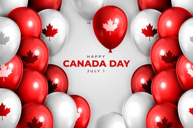 Realistischer kanada-tagesballonhintergrund
