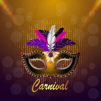 Realistischer karnevalsmaskenhintergrund