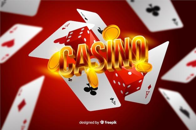Realistischer kasinoelementhintergrund