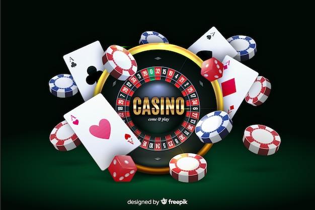 Realistischer kasinohintergrund