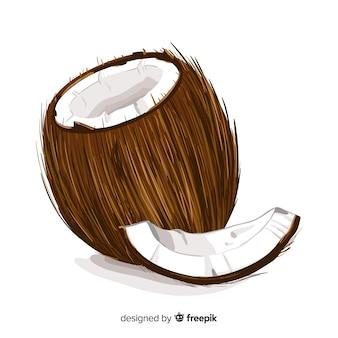 Realistischer kokosnusshintergrund