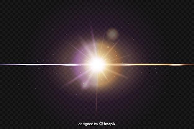 Realistischer kollisionseffekt mit zwei lichtern