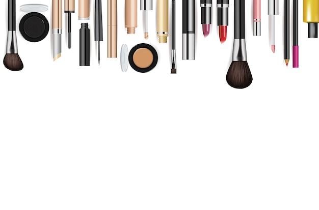 Realistischer kosmetischer werkzeugmodellsatz