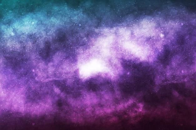 Realistischer kosmischer galaxienhintergrund. konzept von raum, nebel und kosmos.