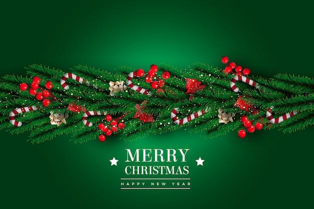 Realistischer lametta-weihnachtshintergrund