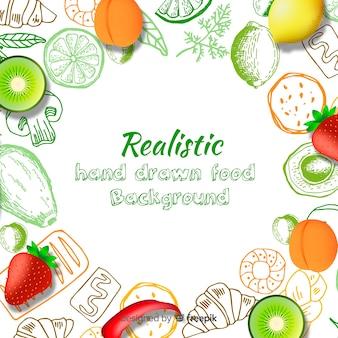 Realistischer lebensmittelhintergrund