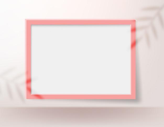 Realistischer leerer bilderrahmen für modell