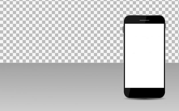 Realistischer leerer bildschirm für mobiltelefone und copyspace