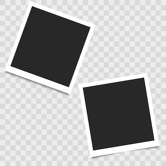 Realistischer leerer fotorahmen