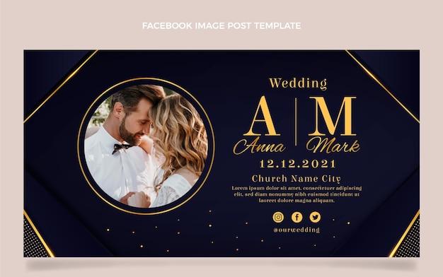 Realistischer luxus-facebook-post zur goldenen hochzeit