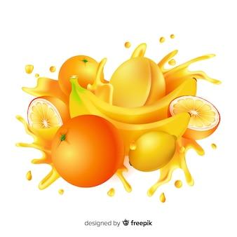 Realistischer mango-hintergrund