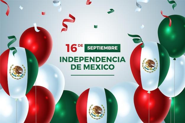 Realistischer mexikanischer unabhängigkeitstaghintergrund